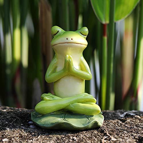 SSLLH Gartenharz StatuenTierstatue, Handgefertigte Meditationsstatue Frosch Kunst...