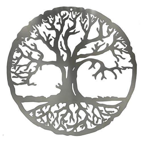 HOLZBIBER® Baum des Lebens Edelstahl 18 cm Durchmesser Made In Germany rostfrei...
