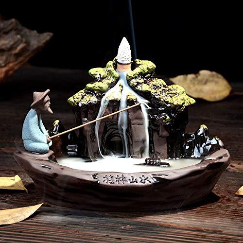 Guilin Scenery Keramik Rückfluss Räuchergefäß Halter Wasserfall mit 10PCs...