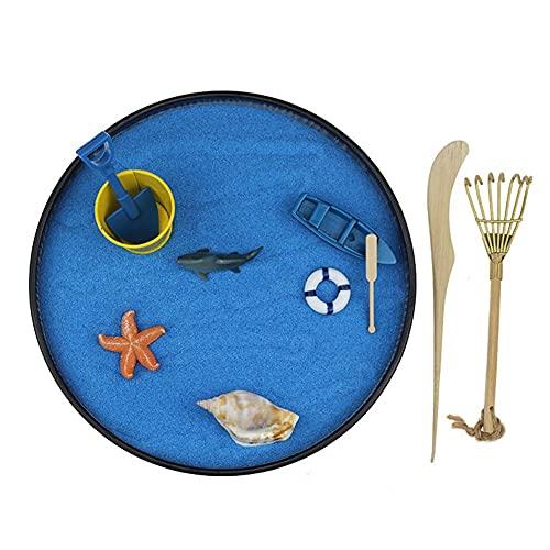 Bebliss Ozean Zen Garten Ozean Thema Mini Meditation Zen Gartentisch Dekor Kit mit...