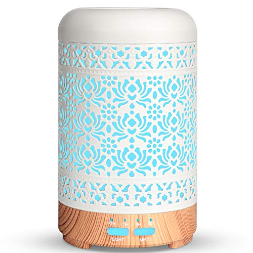 Salking Aroma Diffuser, Metall Diffusor für Ätherische Öle, BPA-Free Aromatherapie...