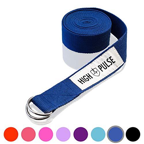 High Pulse® Yogagurt (300 x 3,8 cm) – Hochwertiger Yoga Gurt mit Verschluss als...
