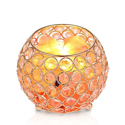 Nachttischlampe Salzlampe, Tomshine 15W Warmweiß Salzlampe Dimmbar Nachtlicht...