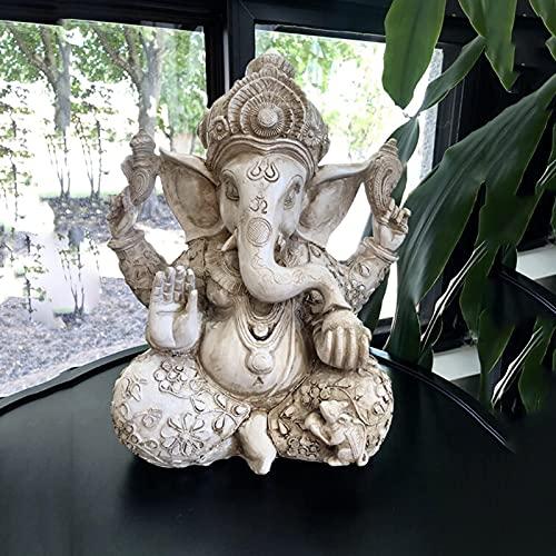Pevfeciy Ganesha Figur Groß Buddha Statue,Zen Garten Dekoration Figuren,Buddha...