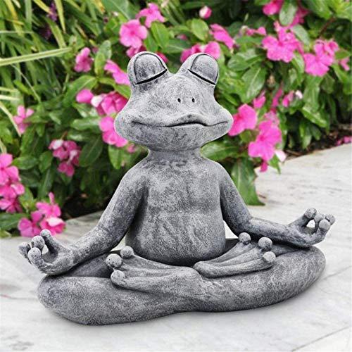 Garten Skulpturen & Statuen Meditation Frosch Tier sitzen Statue Gartendeko Outdoor...