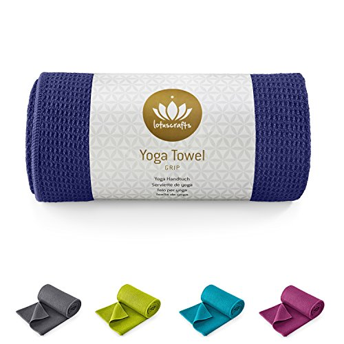 Lotuscrafts Yoga Handtuch Wet Grip - rutschfest & Schnelltrocknend - Antirutsch...