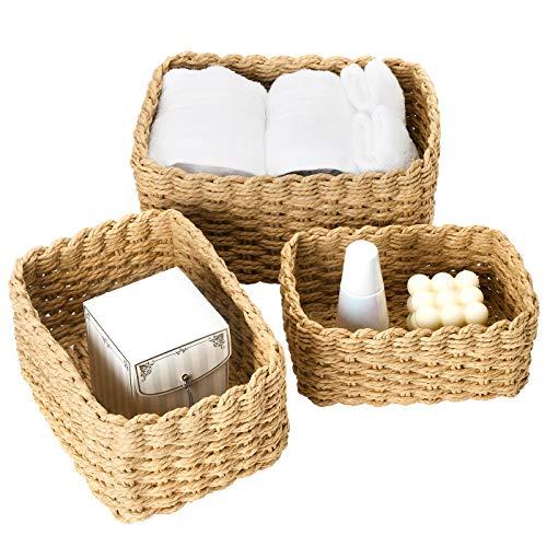 La Jolíe Muse Aufbewahrungskorb, 3er Set aus gewebtem recyclebarem Papierseil,...