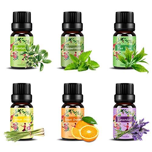 Ätherische Öle Set,6 x 10 ml Aromatherapie Duftöl 100% Pure Ätherische Öle...