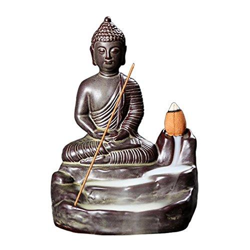 Handgemachte Rauch Räucherstäbchenhalter, Buddha Backflow Räucherstäbchenhalter,...