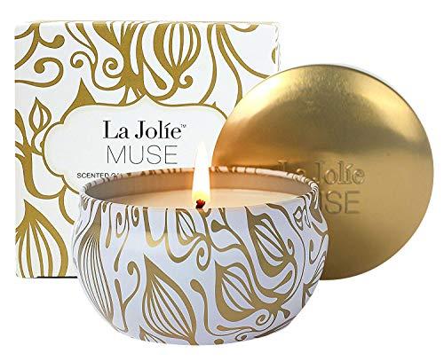 La Jolíe Muse Duftkerze Vanille Kokosnuss, 100% Sojawachs Kerze in Dose Geschenk...