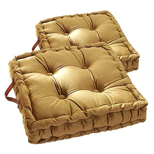 PYTRMHI 2Er-Set Sitzkissen Stuhlkissen 42X42x8cm, Yogakissen Meditationskissen...