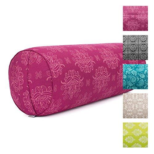 Yoga-Bolster'Lotus', berry, Maharaja Collection, Dinkel-Füllung, Bezug aus 100%...