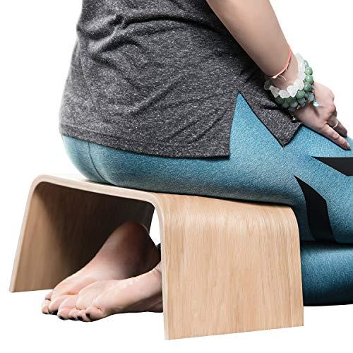 Robuste Holzbank, Geeignet für Tee-Zeremonien, Yoga, Seiza-Pose, Meditation für...