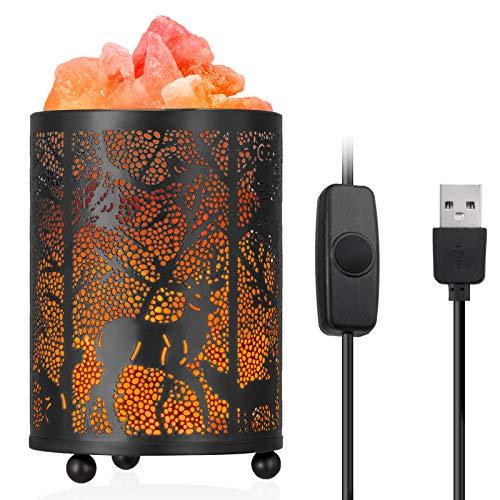 Salzlampe, Zanflare USB Salz Lampe mit Dimmschalter Kristall Lampe Nachttischlampe...