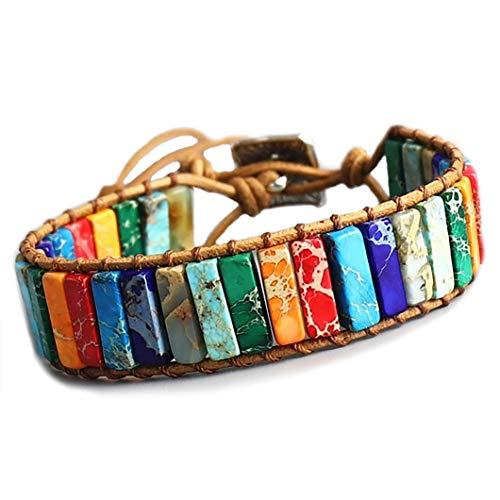 STYLE4-NATURE® 7 Chakra Armband Buddhistisches, handgefertigtes Armband aus...