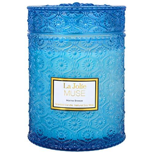 LA JOLIE MUSE Marine Breeze Duftkerze, 100% natürliche Soja-Kerze für Zuhause, 90...