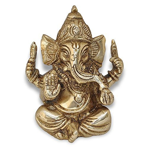 Zap Impex ® Ganesh, Ganpati, Messing Statue Indische Handcrafted Religiöse Skulptur...