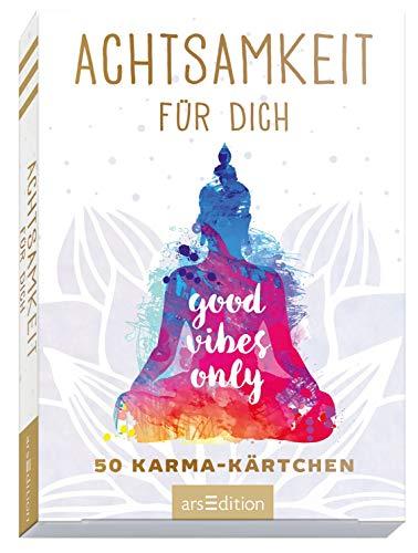 Achtsamkeit für dich: 50 Karma-Kärtchen | Schön gestaltete Achtsamkeitskarten in...