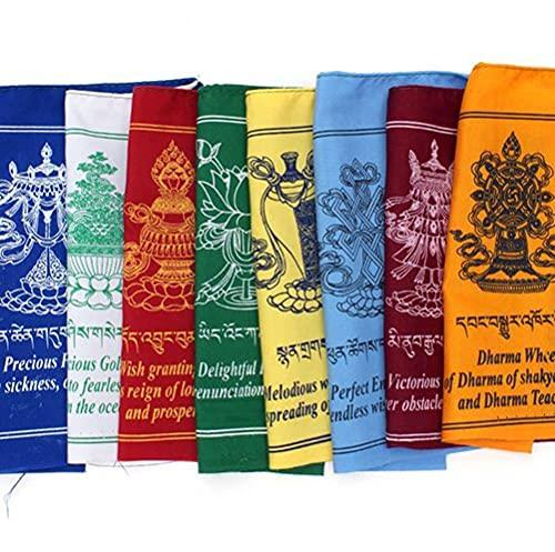 Tashi Tag Gye Gebetsfahnen   Buddhistische tibetische Flaggen   Meditations- &...