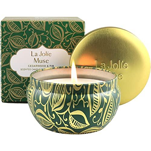 La Jolíe Muse Duftkerze Zedernholz und Tanne, 100% natürliches Sojawachs für zu...