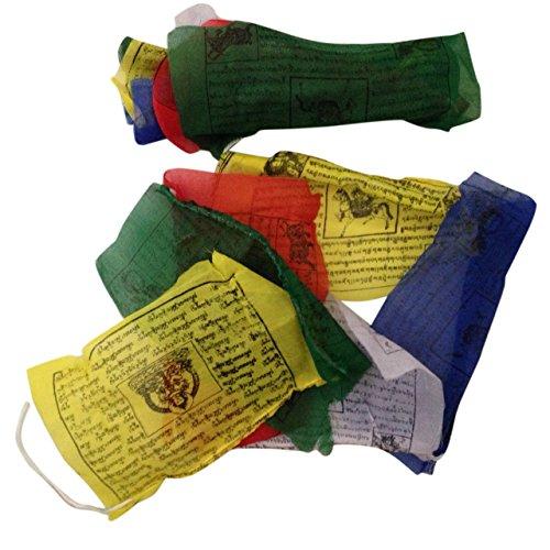 Gebetsfahnen, handgefertigt, Fair Trade, tibetisch-buddhistisch, Baumwolle,...