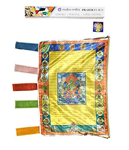 Mudra Crafts tibetisch-buddhistischen Indoor Outdoor Satin Windhorse Vertikale...