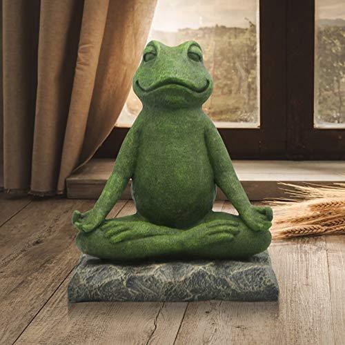 SSLLH Skulpturen Gartenharz StatuenTierstatue, Handgefertigte Yoga Frosch Kunst...