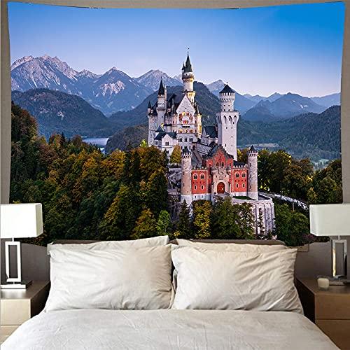 MGHYEQ TapisserieBergwald See Wandteppich Wandbehang Landschaft Gedruckt Polyester...