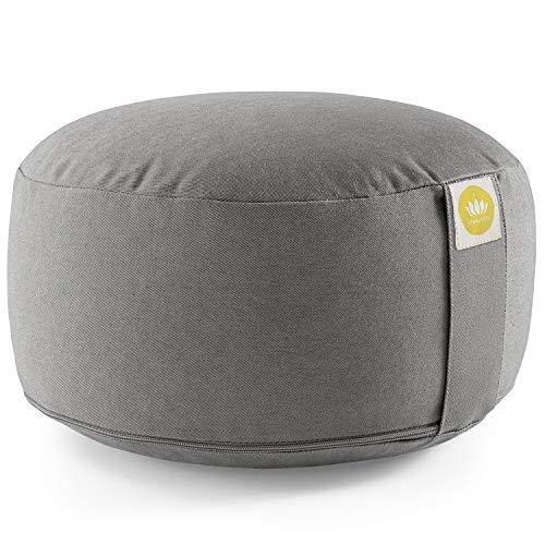 Lotuscrafts Yogakissen Meditationskissen Rund Lotus - komfortable & entspannte...