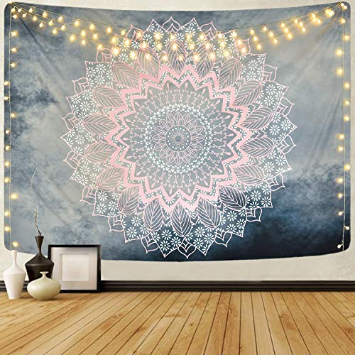 Alishomtll Mandala Wandbehang Lotus Wandteppich indisch Tapisserie Bohemien...