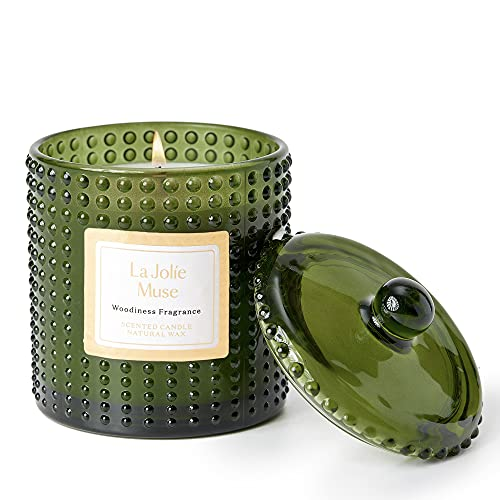 LA JOLIE MUSE Hölzernes Aroma Duftkerze, Natürliches Wachs, 75 Stunden Lange...