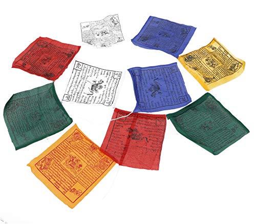 Guru-Shop Tibetische Gebetsfahne in Verschiedenen Längen - 10 Wimpel/Baumwolle,...