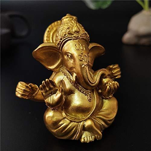 gerenic Gold Lord Ganesha Buddha Statue Indischer Elefant Gott Skulpturen Ganesh...