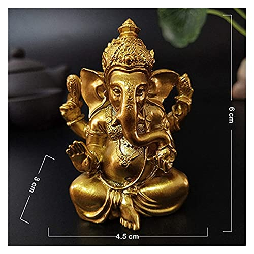 mimiliy Gold Lord Ganesha Statue Buddha Elefant Hindu God skulptur Figuren Harz Home...
