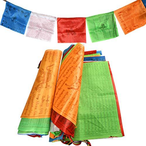 BUYGOO 40PCS Gebetsfahnen Tibetische Gebetsflaggen - 2Rolle Tibetische Buddhistische...