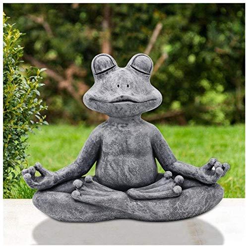 SSLLH Statuen Gartenharz Tierstatue, Handgefertigte Meditationsstatue Frosch Kunst...