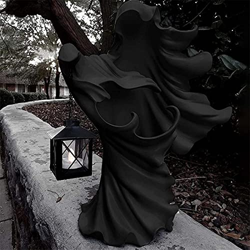 GOUDANER Halloween Deko Garten,Hell's Messenger with Lantern,Witch Decoration...