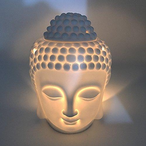 Mayco Bell Duftlampe für Aromatherapie, Buddha-Kopf, Aroma, ätherisches Öl,...