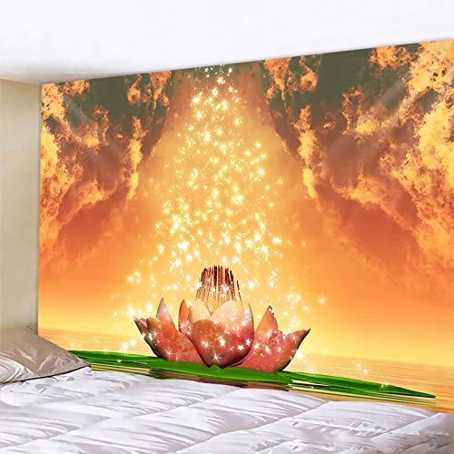 PPOU Bunte Sonne Mond Mandala Hintergrund Stoff Wandteppich Hexerei Wandteppich...