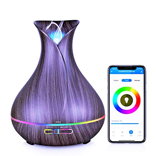 Diffusor für ätherische Öle, 400 ml, WiFi, Smart Alexa App Luftbefeuchter, Duft...