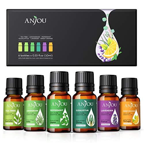 Anjou Ätherische Öle Set [2020 Neueste] Aromatherapie Duftöl Öl 6x 10ml für...