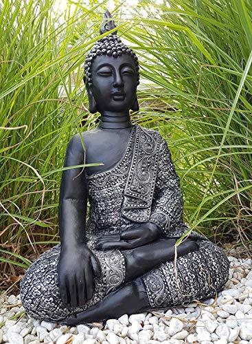 Sitzender Buddha Feng Shui Deko Figur Garten Budha Statue frostfest 45cm Grosse...