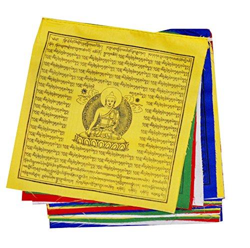 Mandala Crafts Shakyamuni-Gebetsfahnen, hochwertige Baumwolle, lang, 25 Flaggen pro...