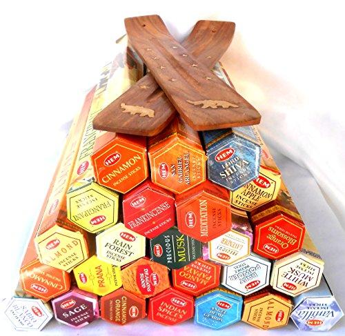25 Packungen HEM Räucherstäbchen je 20 Stück -zufällige Auswahl- PLUS 2 Bretter...