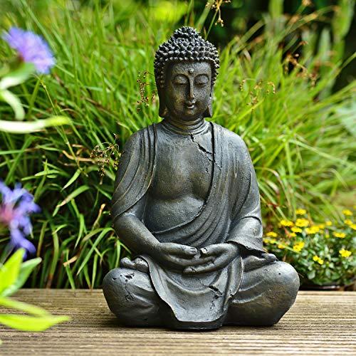 INtrenDU Dhyana-Buddha Garten Buddha Figur 38cm