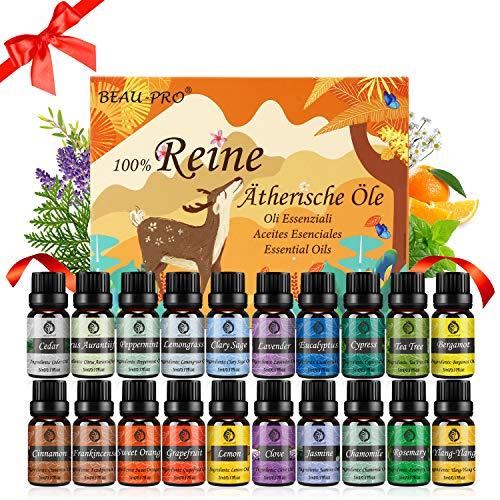 Ätherische Öle Set Duftöl Diffuser - 100% Naturrein Aroma Diffuser Duft Öl...