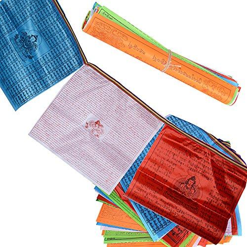 40 Flaggen 2 Rolle Tibetische Gebetsfahnen Buddhistische Gebetsfahnen Prayer Flags...