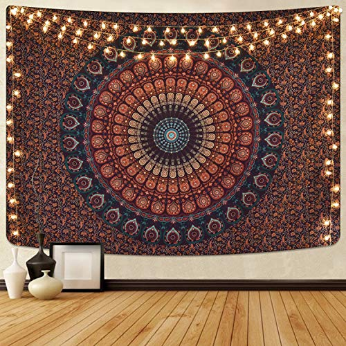 Alishomtll Mandala Wandbehang Bohemian Wandteppich Sandtuch Tapisserie Yoga...