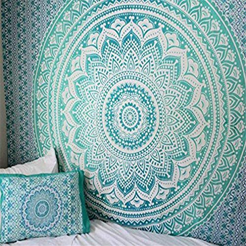 GLITZFAS Mandala Wandteppich Tapisserie Indische Tuch Böhmische Wandtuch Wandkunst...