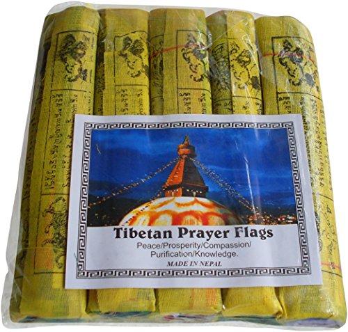 Fairtrade Nepalesische/Tibetanische buddhistische Gebetsfahnen Baumwolle Gebet...
